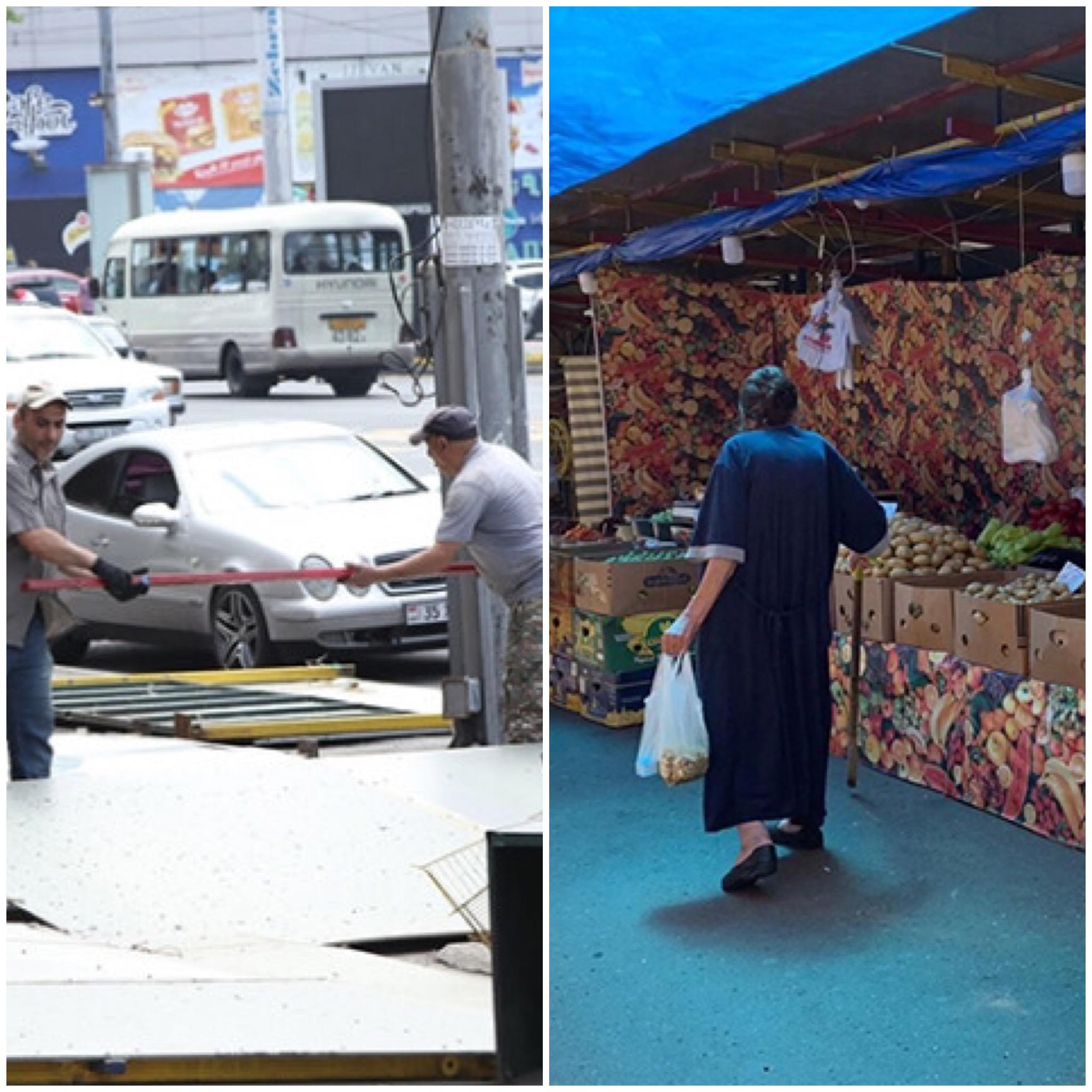 Կոմիտասի պողոտայի շուկայի հարակից առևտրային տաղավարները ապամոնտաժվում են